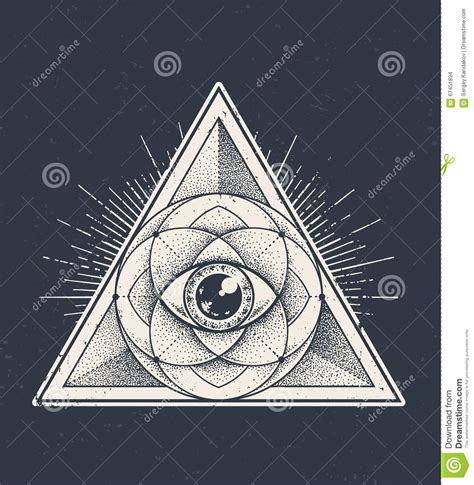 triangle eye pattern sacred geometry stock vector image 67451894