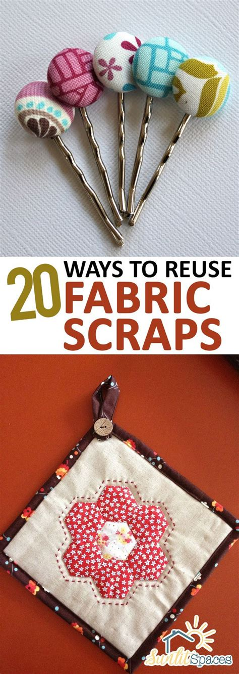 fabric crafts easy 20 ways to reuse fabric scraps sewing scrap fabric