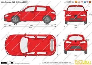 Alfa Romeo 147 Dimensions The Blueprints Vector Drawing Alfa Romeo 147 5 Door