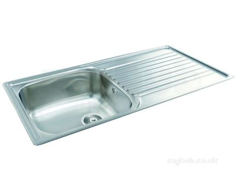 Single Bowl Kitchen Sink With Drainer Contessa Kitchen Sink With Left Large Single Bowl And Drainer Carron