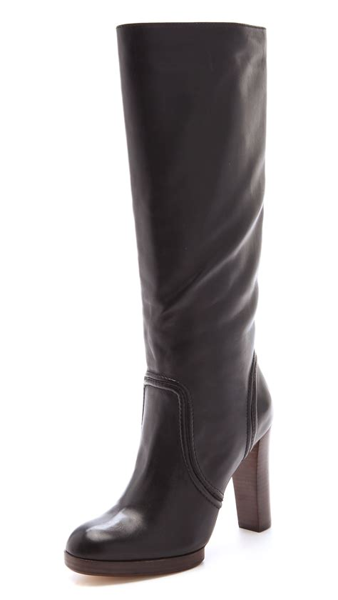 michael kors high heel boots kors by michael kors aila high heel boots in black lyst