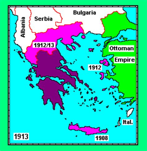 Ottoman Empire Greece Expansion Of The State After The War Of Independence Against The Ottoman Empire