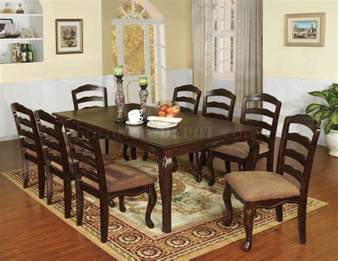 Bedroom Furniture Townsville Cm3109t 78 Townsville 5pc Dinette Set In Walnut W Options