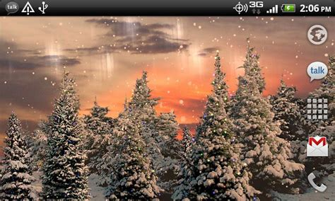 christmas live themes for windows 7 snowfall free live wallpaper android apps on google play