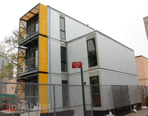 emergency housing nyc s prefab post disaster housing units unveiled in brooklyn photos inhabitat new