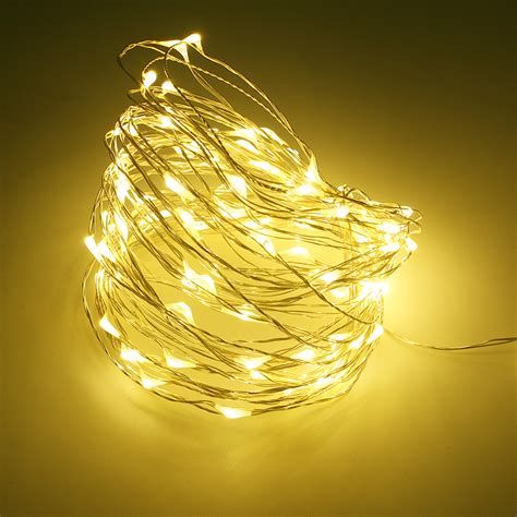 waterproof copper wire led string lights holiday rgb led