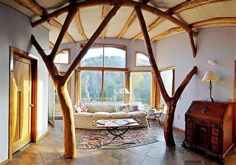 Earthship Interior by Earthship Interior Cob Straw Bale