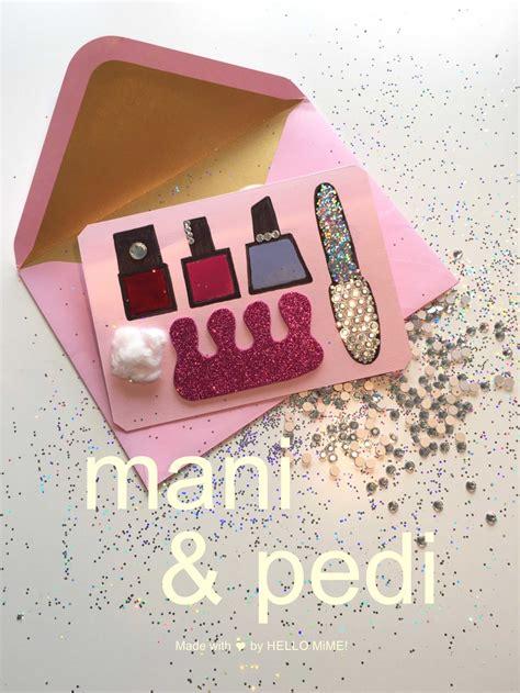beauty geschenk gutschein mit strass und nagellack basteln