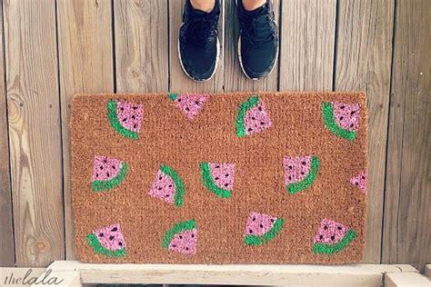 diy watermelon  mat  mats mats diy