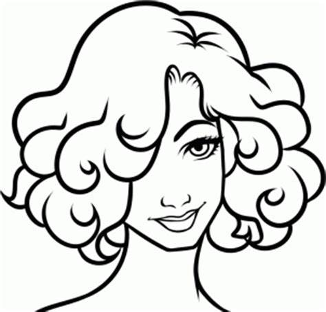 how to draw curly hair step by step hair people free