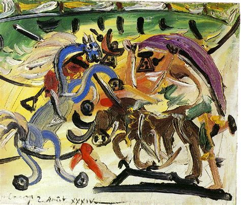 picasso paintings bullfight a bullfight 1934 pablo picasso wikiart org