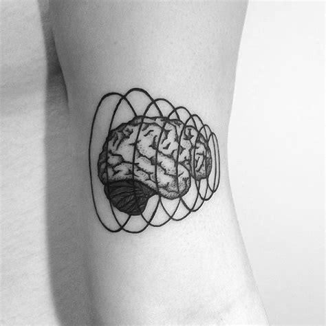 nice blackwork brain tattoo photo chinatown stropky