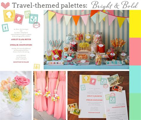 theme related names three looks for travel themed weddings