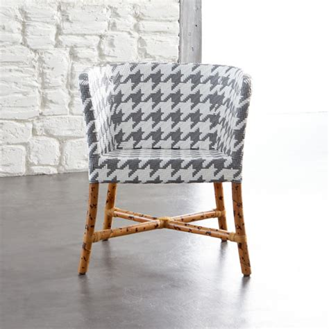 Gray And White Accent Chair Como Woven Chair Grey White Contemporary Armchairs And Accent Chairs Other Metro By