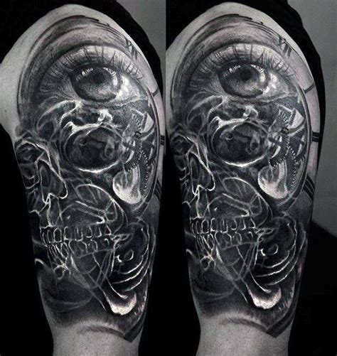 cool cover up tattoo designs cool mens half sleeve eye with smoke cover up