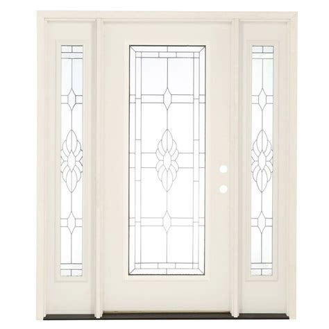 Exterior Entry Doors Fiberglass Feather River Doors 67 5 In X 81 625 In Sapphire Patina Lite Unfinished Smooth Left