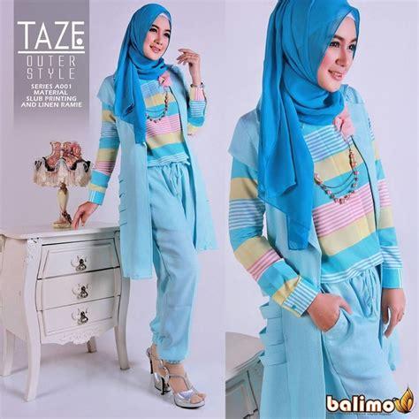 Cardy Outher Talita Blue Tanpa Inner supplier baju muslim terbaru