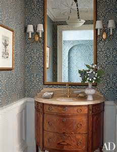 Elegant Wallpaper For Powder Room Powder Rooms Sure To Impress Any Guest Photos