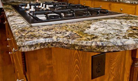 granite edge 1 2 quot beveled edge eclectic kitchen