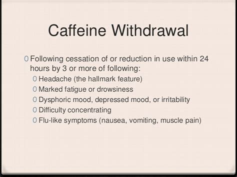 Caffeine Detox Leg by Caffeine Withdrawal Migraine Indometacina Cefalea A Grappolo