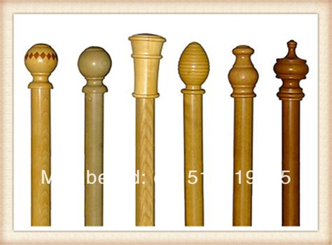 Wooden Curtain Poles Finials Tracks Rings Accessories