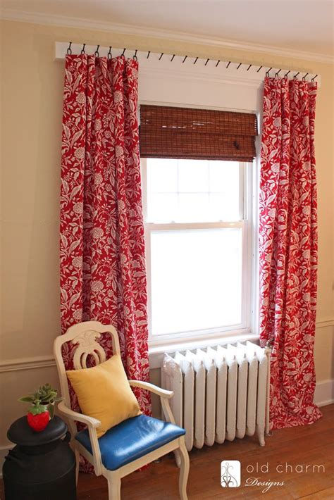 diy drapes 1000 ideas about hanging curtain rods on pinterest