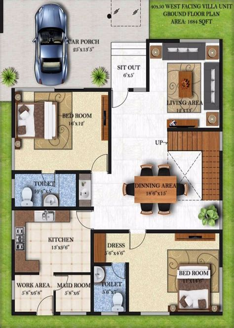 home design 60 x 40 west facing house plans 30 x 60