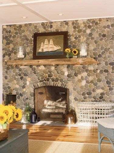 driftwood mantle house