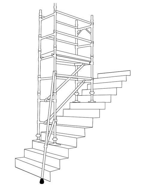 10.7m Handrail Height Stair Tower 0.850m x 1.800m | Plant
