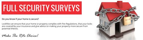 lockrite locksmith security surveys is your home secure