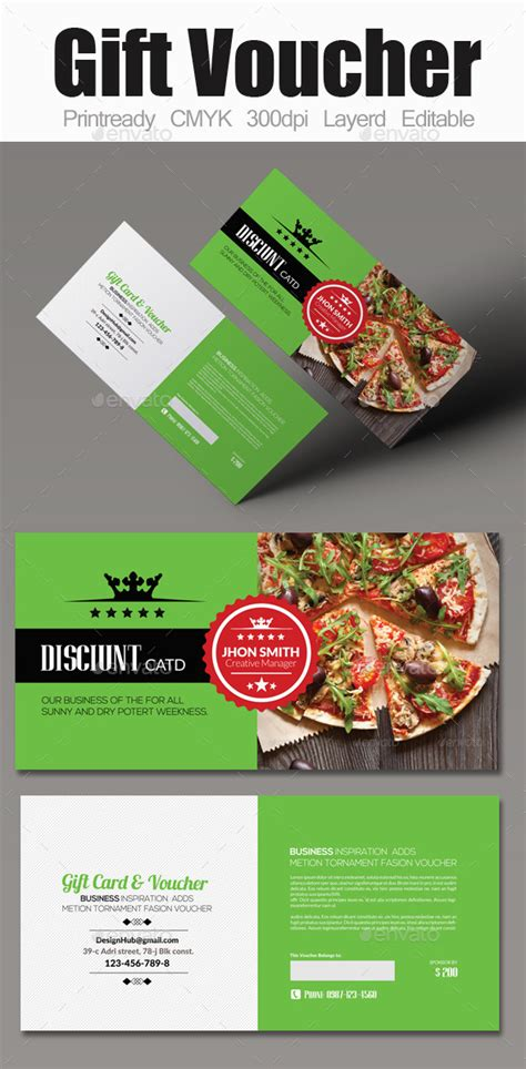 food gift certificate template food gift voucher by designhub719 graphicriver