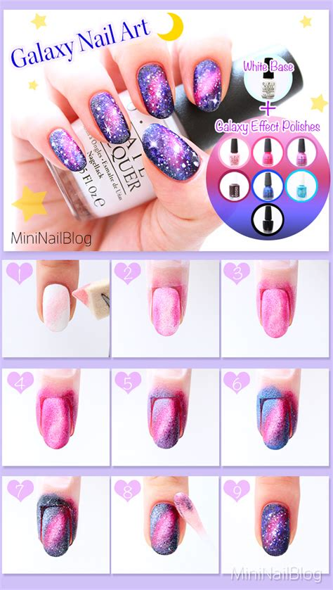galaxy nail art tutorial easy galaxy nails nailbees