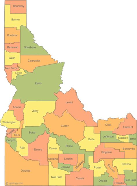 idaho county map idaho state map counties cities boise map map of usa states