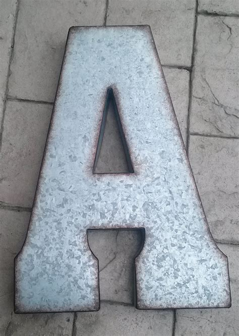 metal letter x large metal letter zinc steel initial home room decor diy