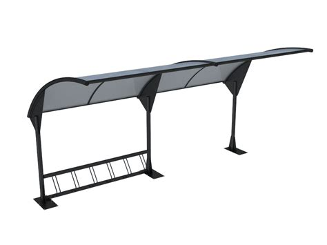 tettoia moderna pensilina moderna per attesa autobus o copri bici