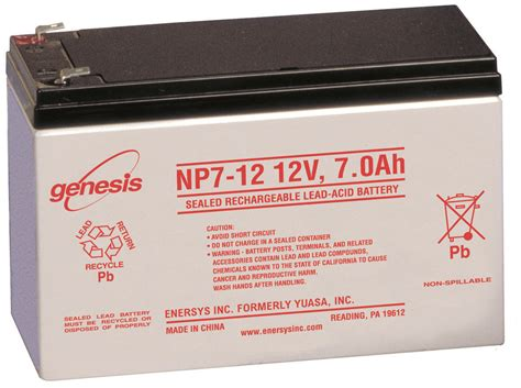 ENERSYS NP7 12 RECHARGEABLE SLA BATTERY   Battery Outlet Inc.
