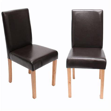billiger stuhl 2x esszimmerstuhl stuhl lehnstuhl littau leder braun