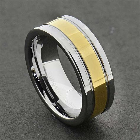 comfort fit tungsten wedding bands tungsten carbide ring comfort fit wedding band men silver