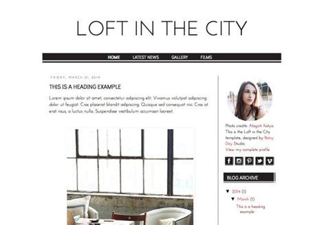 templates blogger urban responsive blogger template loft in the city responsive