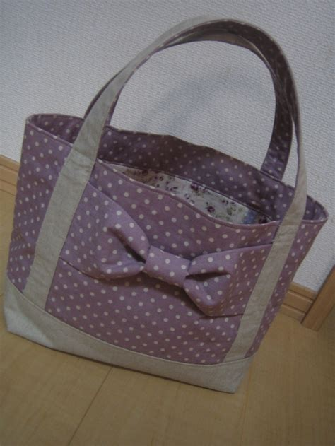 tote bag pattern with bow tutorial lined tote bag with a big bow japanese bags