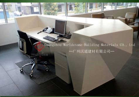 Reception Desk Materials Semi Circle Reception Desk Solid Surface Countertop View Semi Circle Reception Desk Worldstone