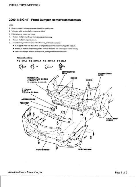 2000 honda insight fuse box diagram free wiring