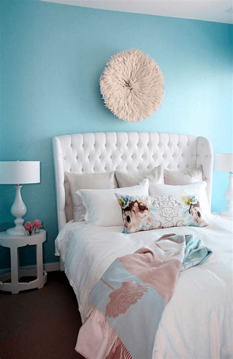 Light Turquoise Bedroom Pantone Island Paradise White Upholstered Bed Turquoise Bedrooms And Light Turquoise