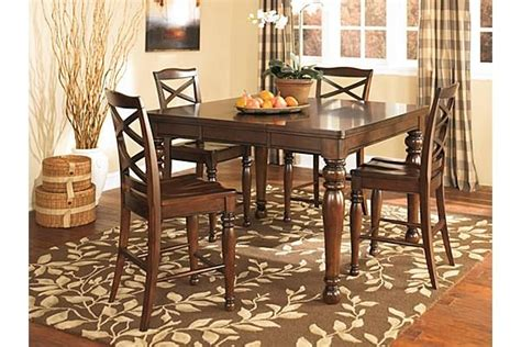 porter counter height table set the porter counter height dining room table from