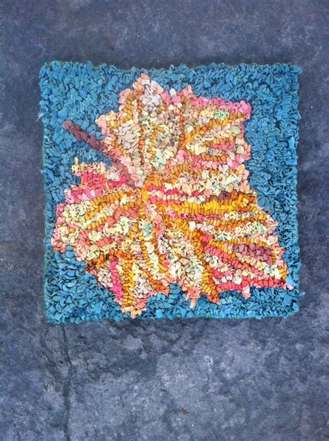 punch needle rug hooking patterns leaf trivet 1 rug hooking punch needle pattern
