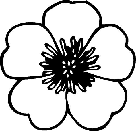 Flower Coloring Pages For Kids Coloring Picture Of A