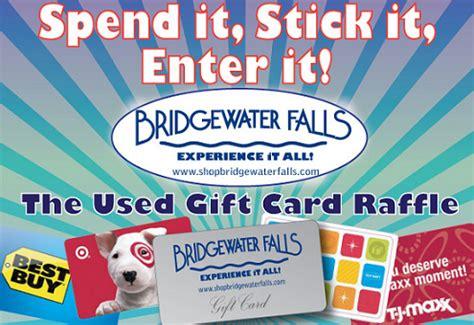 bridgewater falls used gift card raffle savings lifestyle - Bridgewater Gift Card Balance