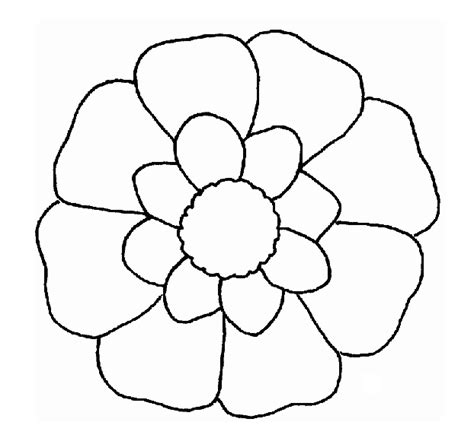 printable flower template cut out www imgkid com the