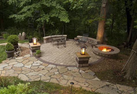 patio firepit backyard patio ideas with pit pit design ideas