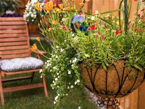 plant hanging baskets hgtv